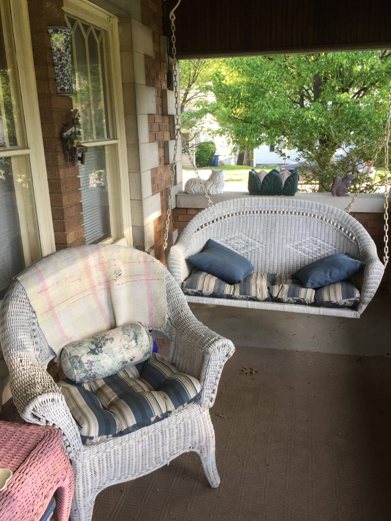 Front Porch Swing Left Side