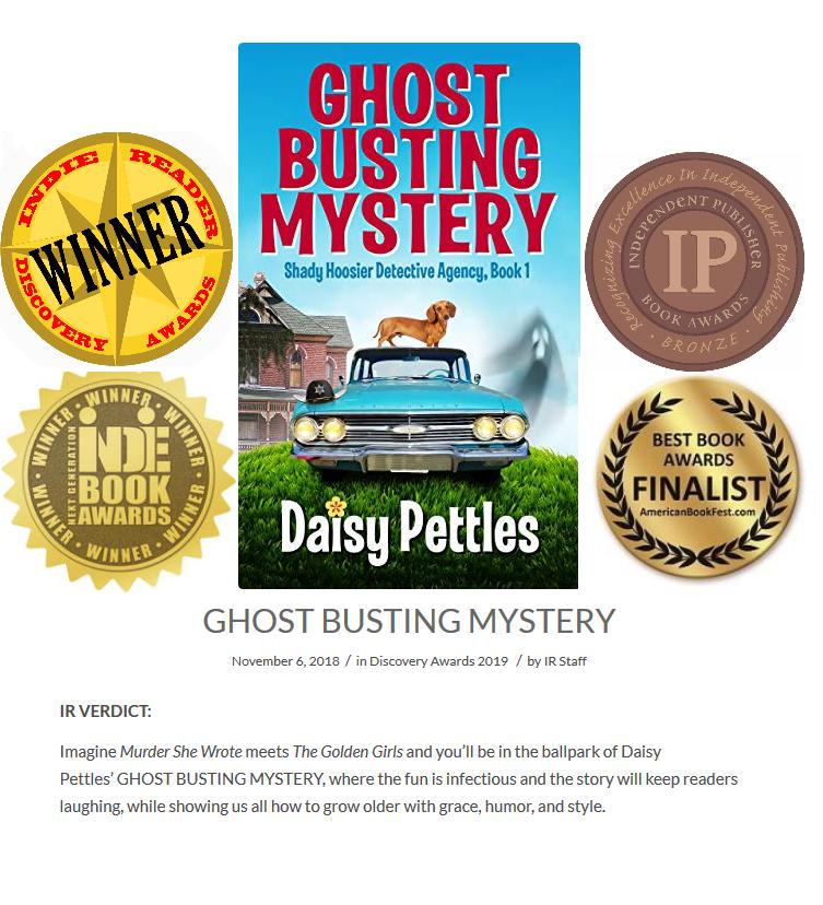 Daisy Pettles Award Winning Indiana Humor and Mystery Author